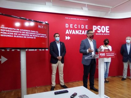 El PSRM insiste en proponer al Gobierno regional un documento de mínimos para reforzar la Sanidad