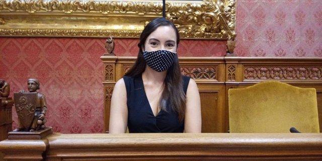 La portavoz de Cs en el Consell de Mallorca, Beatriz Camiña, durante el Debate de Política General.