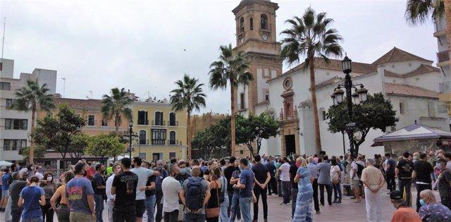 Concentración en Algeciras en apoyo de las Fuerzas y Cuerpos de Seguridad en la lucha contra el narcotráfico