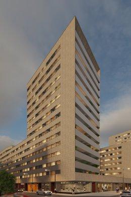 AEDAS Homes llega a Navarra con una promoción de 92 viviendas junto a la Media Luna de Pamplona.