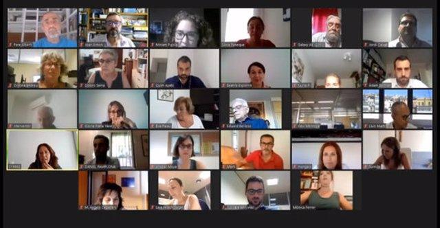 Captura del ple telemàtic de l'Ajuntament de Girona del 14 de setembre del 2020 (horitzontal)