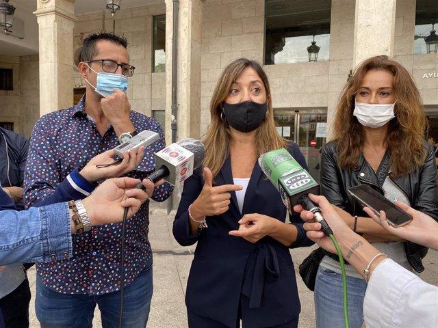 La portavoz del Grupo Municipal Popular en el Ayuntamiento de Burgos, Carolina Blasco.