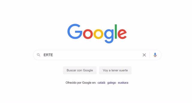 """Búsqueda de la palabra """"ERTE"""" en Google"""