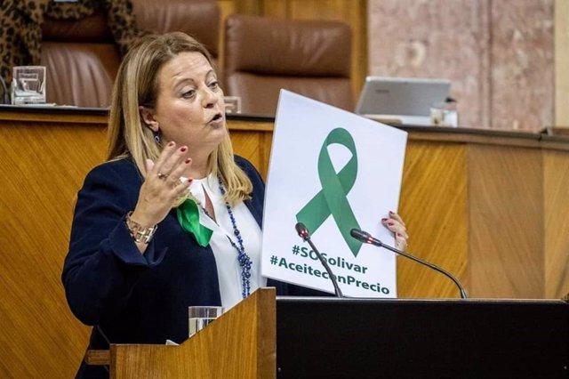 La parlamentaria andaluza del PP de Jaén Ángela Hidalgo en una imagen de archivo.