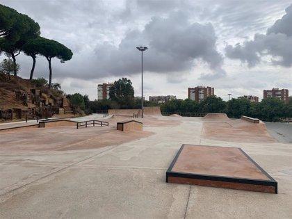 Las obras del skatepark del Parque Moret, al 95% de ejecución, a falta de culminar los últimos detalles