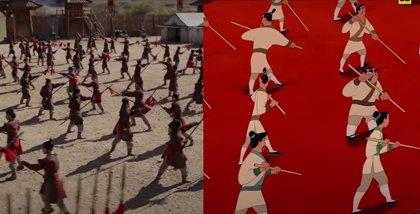 Mulan: el remake de Disney+ vs el clásico de animación en el nuevo vídeo