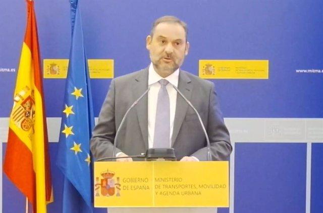José Luis Ábalos durante su intervención.