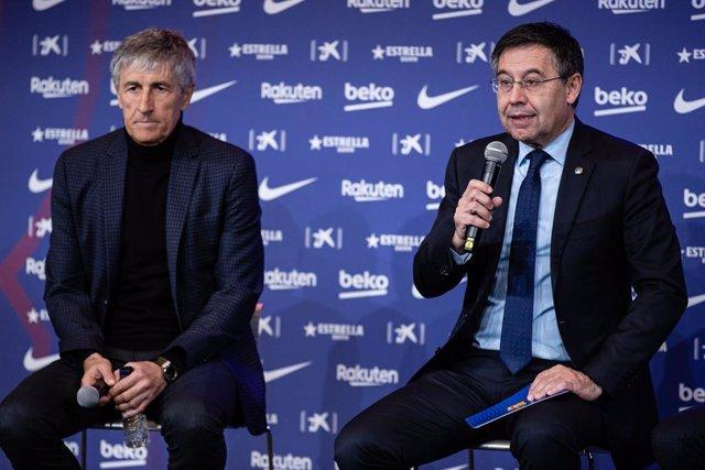 Fútbol.- Quique Setién y su 'staff' interponen acciones legales contra el FC Bar