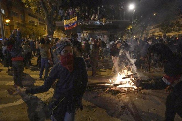 Protestas contra la violencia policial en Colombia