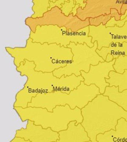 El norte de Cáceres activa este viernes la alerta naranja por lluvias y tormentas, y el resto de la región, la amarilla