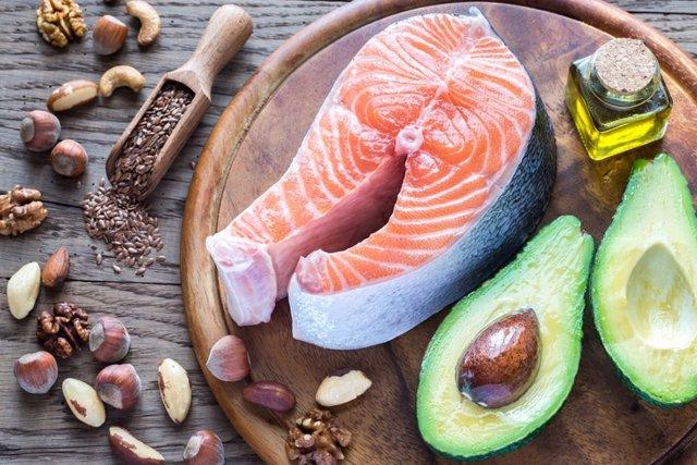 Food with Omega-3 fats  Comida con grasas omega 3