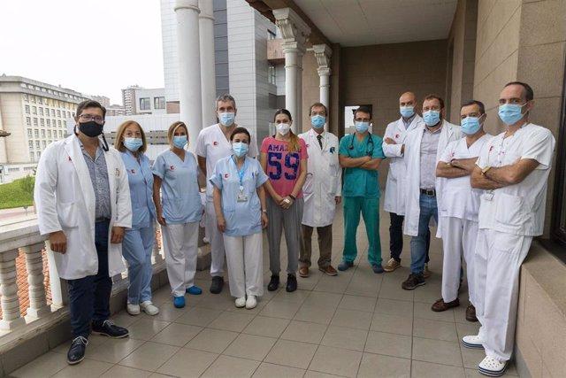 Equipo de trasplantes del Hosputal Valdecilla de Santander