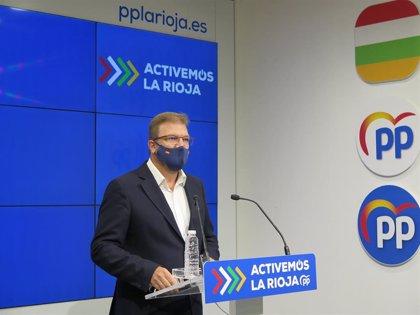 """El PP pide a Andreu que """"no culpe a los riojanos de su inacción y reaccione"""" para dar una respuesta eficaz al Covid"""