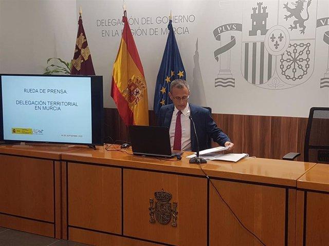 Juan Esteban Palenzuela, delegado territorial de la Agencia Estatal de Meteorología (Aemet)
