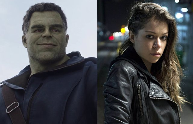 Mark Ruffalo (Hulk) da la bienvenida a Tatiana Maslany (She-Hulk), su prima en el UCM