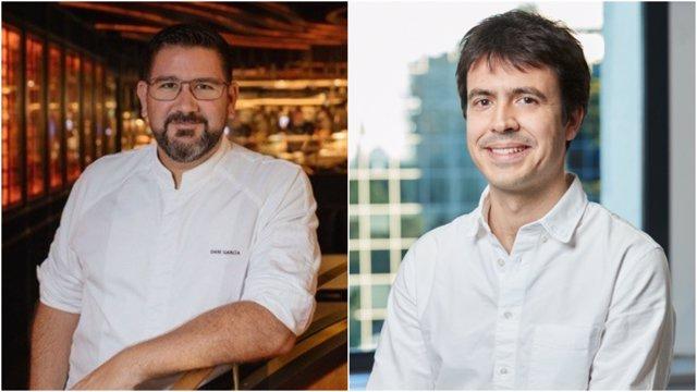 El chef, Dani García, y el director general de Just Eat España, Patrik Bergareche
