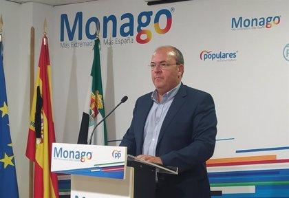 """Monago reclama un portal único de información sobre el Covid-19 para acabar con la """"falta de transparencia"""" de la Junta"""