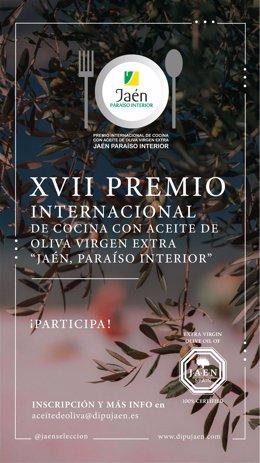 Cartel del XVII Premio Internacional de Cocina con AOVE.