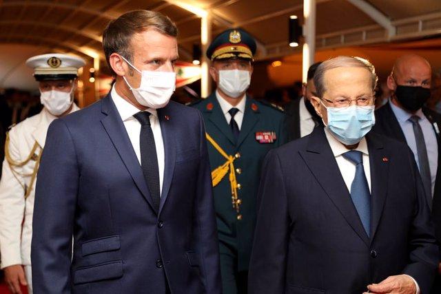 """Líbano.- Macron pide al presidente de Líbano la formación """"lo antes posible"""" del"""