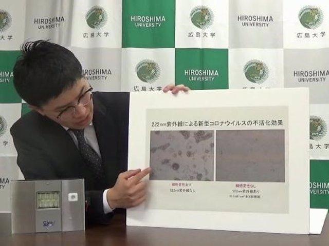 Investigadores japoneses descubren que un tipo de luz ultravioleta logra matar al coronavirus