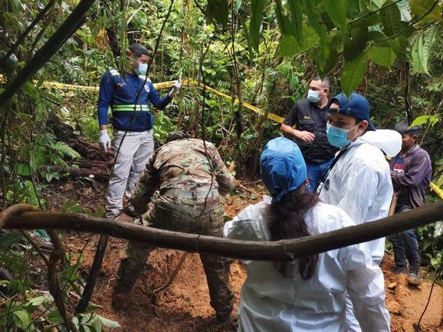 Hallazgo de una fosa con restos óseos en la comarca Ngäbe Buglé, en Panamá