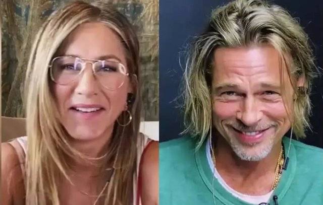 El reencuentro virtual de Jennifer Aniston y Brad Pitt