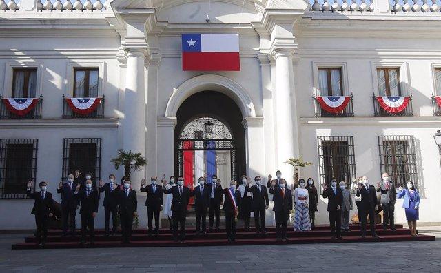 Reunión de Sebastián Piñera con sus ministros