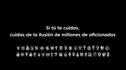 """Seguidores de LaLiga mandan un mensaje a sus jugadores: """"Si te cuidas, cuidas de la ilusión de millones de aficionados"""""""