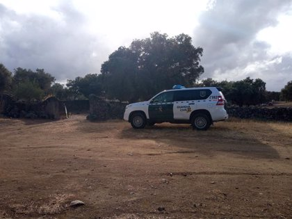 Agentes de la Guardia Civil llegan a una finca cercana a Monesterio para buscar el cuerpo de Manuela Chavero