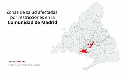 Mapa: estas son las 37 zonas de la Comunidad de Madrid en que se aplicarán restricciones