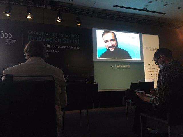 El director general de Gobierno Abierto e Innovación Social, Raúl Oliván, en su intervención en el congreso Magallanes-Elcano