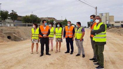 Avanzan las obras para la mejora de la seguridad vial en el polígono 'El Campillo' de Zuera (Zaragoza)