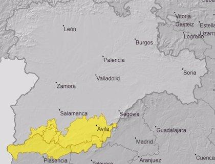 Aviso amarillo por lluvias este fin de semana en Ávila, León Salamanca y Zamora