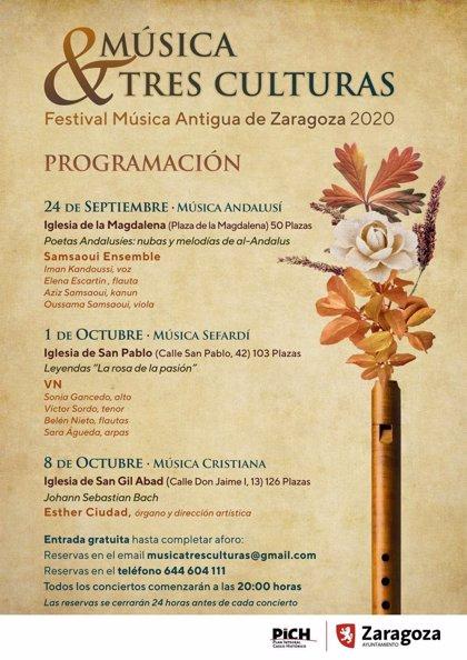 Las iglesias del Casco Histórico zaragonzano se llenarán de melodías con 'Zaragoza. Música y Tres Culturas'