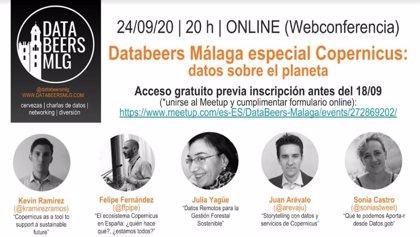 Databeers Málaga celebra una edición online sobre datos abiertos del programa de observación terrestre Copernicus