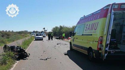 Fallecen dos motoristas en un accidente de tráfico en un camino de Benicàssim