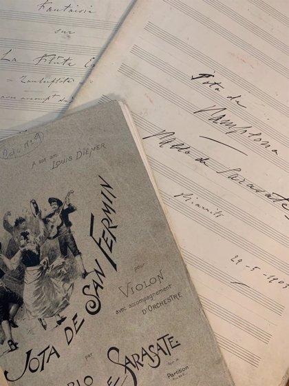 El Archivo Municipal de Pamplona pone a disposición de forma on line la biblioteca literaria y musical de Pablo Sarasate