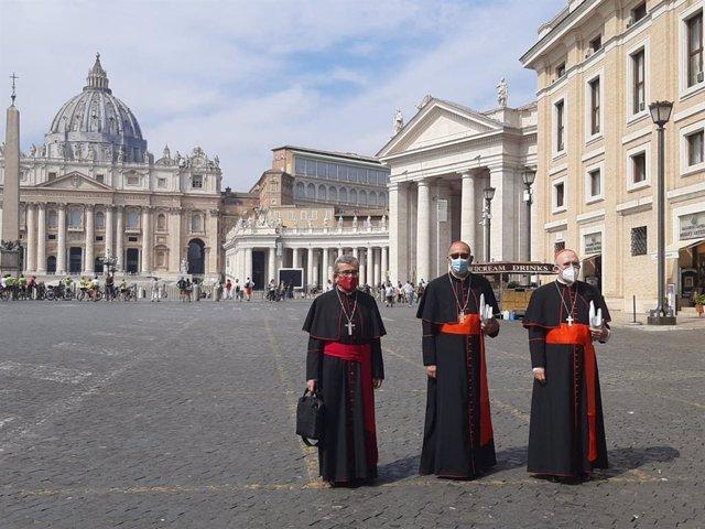 """VÍDEO: Omella, tras reunirse con el Papa, coincide con Francisco en pedir """"unida"""
