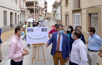 El Ayuntamiento trabaja en la mejora del casco histórico de Monteagudo con espacios peatonales más amables y accesibles