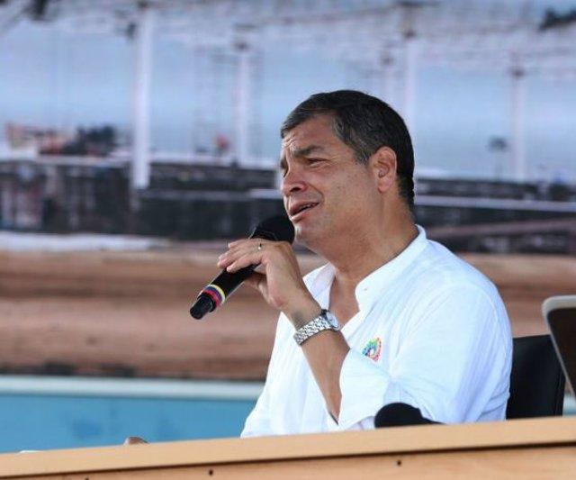 El expresidente de Ecuador Rafael Correa