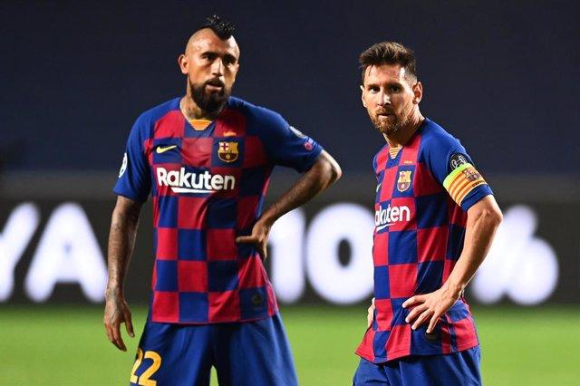 "Fútbol.- Leo Messi se despide de Arturo Vidal: ""Te vamos a extrañar"""