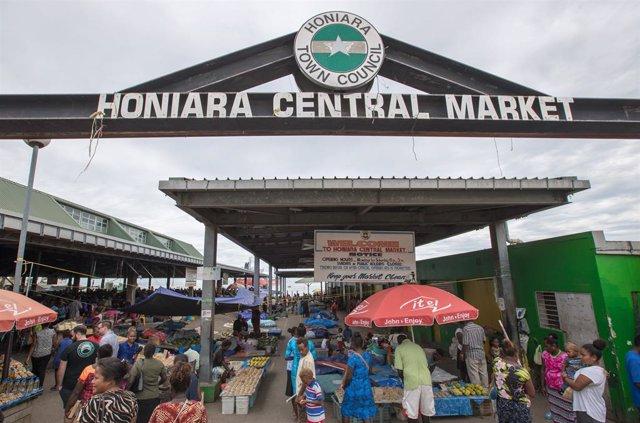 Mercado Central de Honiara, en la capital de Islas Solomón.
