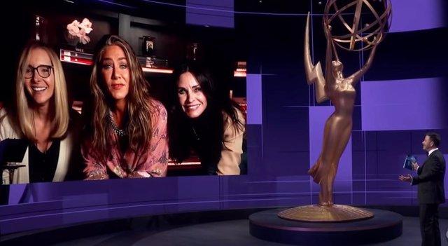 """Las actrices de Friends se reúnen en los Emmy 2020: """"Vivimos juntas desde 1994"""""""
