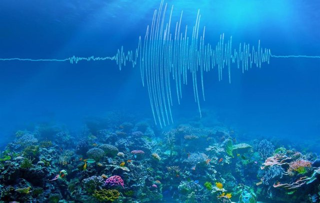 Ilustración artística de las ondas sísmicas submarinas