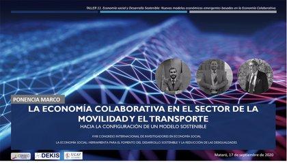 La UCAV aborda la economía colaborativa en movilidad en el Congreso Internacional de Investigadores en Economía Social