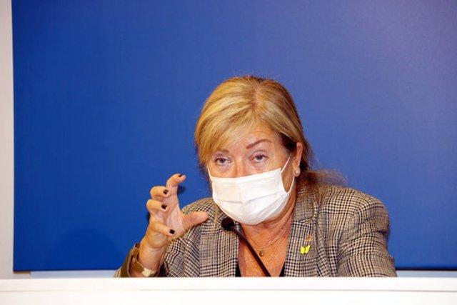 La consellera de Cultura, Àngels Ponsa, a la delegació del Govern de Lleida. Imatge del 21 de setembre de 2020. (Horitzontal)