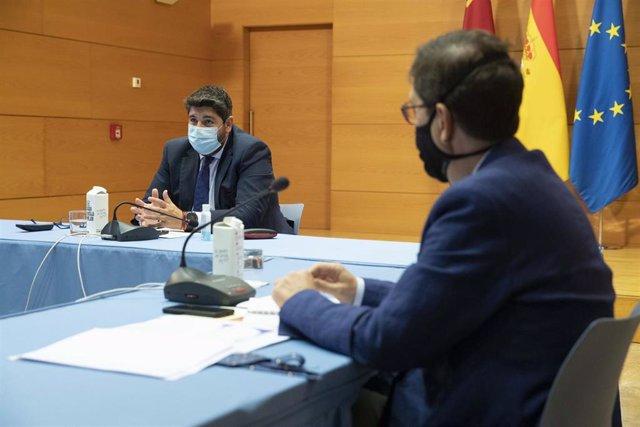 López Miras y Villegas, en la reunión del Comité de Seguimiento Covid-19