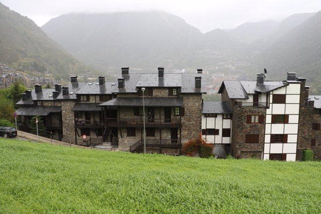Pla general del recinte veïnal de Vila, a Encamp (Andorra), on s'hauria produït l'assassinat d'un home. Imatge de l'Agència de Notícies Andorrana (ANA) del 21 de setembre de 2020 (Horitzontal).