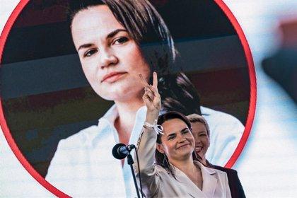 """Bielorrusia.- Tijanovskaya pide firmeza a la UE: """"Solo con la ayuda de la comunidad internacional podremos ganar"""""""
