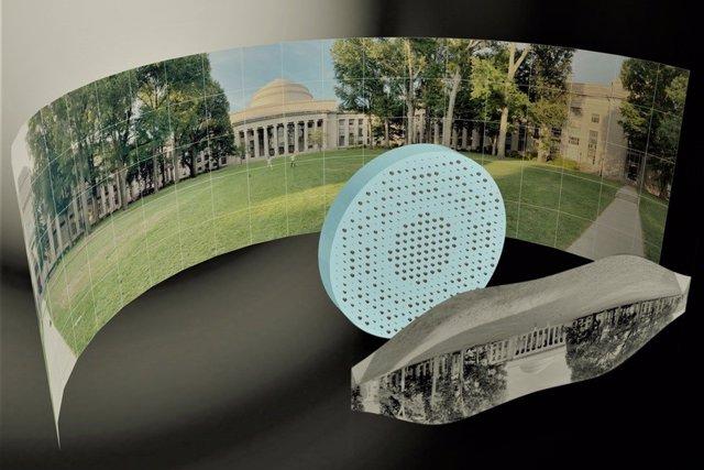 Una lente plana hace fotos de 180 grados en una sola toma